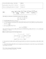 Dap an đề thi cuối kỳ môn học đk số