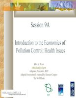 Introduction to the Economics of Pollution Control: Health Issues