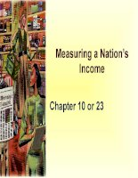 Measuring a Nation's Income GDP