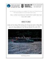 Giám sát Tác động Môi trường của Trang trại nuôi cá lồng biển quy mô công nghiệp tại Vân Phong, Khánh Hòa năm 2015