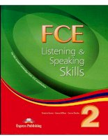 FCE listening and speaking skills 2 Student book