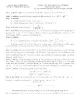 Free đề thi thử môn toán trường thpt hồng quang lần 1