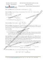 Đề thi thử môn toán 2016 trường thpt amsterdam