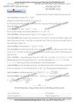 Đề thi thử môn toán 2016 trường thpt trần hưng đạo đăknông lần 1