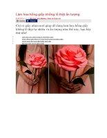 Làm hoa hồng giấy khổng lồ thật ấn tượng
