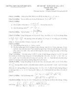 Free đề thi thử môn toán trường thpt chuyên biên hòa lần 1
