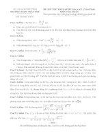 Free đề thi thử môn toán trường thpt trần phú lần 1