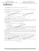 Đề thi thử môn toán 2016 trường thpt chuyên phan bội châu nghệ an lần 1