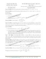 Đề thi thử môn toán 2016 trường thpt chuyên vĩnh phúc lần 1