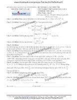 Đề thi thử môn toán 2016 trường thpt lê lợi thanh hóa lần 1
