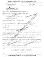 Đề thi thử môn toán 2016 trường thpt lê quý đôn dà nẵng
