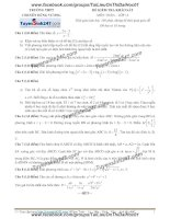 Đề kiểm tra khảo sát môn toán lớp 12 trường thpt chuyên hùng vương lần 1