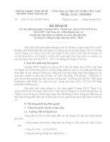 KẾ HOẠCH Về việc phối hợp giữa Trường trung học cơ sở Thạnh Lợi Hội Liên hiệp phụ nữ  Việt Nam xã và Hội khuyến học xã Trong việc thực hiện các nhiệm vụ mục tiêu giáo dục  và công tác chống bỏ học năm học 2012 2013