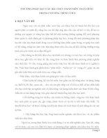 PHƯƠNG PHÁP DẠY CÁC BÀI THỰC HÀNH MÔN TOÁN HÌNH  TRONG CHƯƠNG TRÌNH THCS