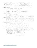 Đề thi tuyển sinh THPT môn toán 9 tỉnh bình dương năm học 2016   2017(có đáp án)