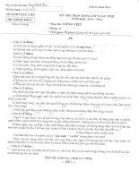 Bộ đề và đáp án thi hsg lớp 9 cấp tỉnh