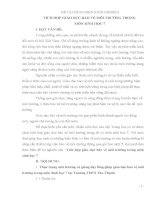 TÍCH HỢP GIÁO DỤC BẢO VỆ MÔI TRƯỜNG TRONG  MÔN SINH HỌC 7