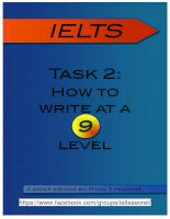 IELTS writing task 2 : How to write at a 9 level