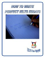 How To Write Perfect IELTS Essays