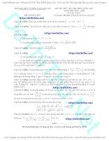 Đề thi thử THPT quốc gia môn toán 2016 sở GD lào cai có đáp án