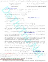 Đề thi thử môn toán 2016 sở GD quảng ngãi