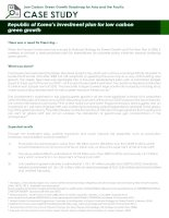 Case Study: republic of koreas investment plan for low carbon green growth