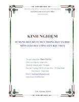 skkn sử dụng bản đồ tư duy trong dạy và học môn giáo dục công dân bậc THCS