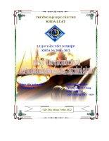 LUẬN VĂN PHÁP LUẬT BẢO VỆ SỨC KHỎE CON NGƯỜI DƯỚI TÁC ĐỘNG Ô NHIỄM MÔI TRƯỜNG
