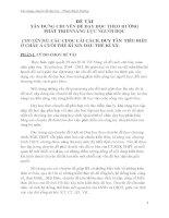 skkn xây DỰNG CHUYÊN đề dạy học THEO HƯỚNG PHÁT TRIỂNNĂNG lực NGƯỜI học