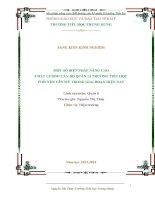 skkn một số biện pháp nâng cao chất lượng cán bộ quản lý trường tiểu học trong giai đoạn hiện nay