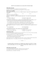 Bài tập cấu tạo nguyên tử và bảng HTTH