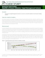Case Study: republic of koreas emissions target management scheme