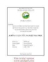 Đánh giá công tác cấp giấy chứng nhận quyền sử dụng đất tại thị trấn chợ chu – huyện định hóa – tỉnh thái nguyên giai đoạn 2012 2014