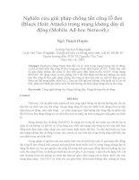 Nghiên cứu giải pháp chống tấn công lỗ đen (Black Hole Attack) trong mạng không dây di động (Mobile Ad-hoc Network)