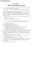bài giảng 1 thể tích khối đa diện
