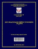 Quy hoạch mạng thông tin di động 3g UMTS