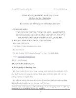 skkn vận DỤNG LÍ THUYẾT CHUẨN độ AXIT – BAZƠ  trong GIẢNG DẠY HÓA HỌC ở TRƯỜNG CHUYÊN VÀ PHỤC  vụ bồi DƯỠNG HỌC SINH GIỎI QUỐC GIA, QUỐC tế