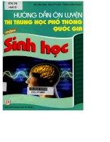 Hướng dẫn ôn luyện thi THPT môn sinh học
