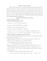Rèn luyện cho học sinh kỹ năng giải một số dạng phương trình lượng giác