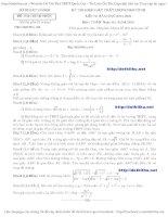 Đề thi thử Toán THPT 2016 sở GD  ĐT Hà Nội có đáp án