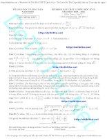 Đề thi thử THPT quốc gia môn toán sở GD  đt nam định có đáp án chi tiết