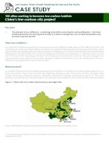 Case Study: chinas low carbon city project