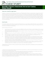 Case Study: republic of koreas framework act on low carbon, green growth