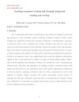 Teaching academic writing skill through integrated reading and writing