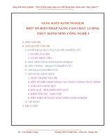 Một số biện pháp nâng cao chất lượng thực hành môn công nghệ 9