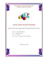 skkn HƯỚNG dẫn học SINH THPT GIẢI bài TOÁN xác SUẤT
