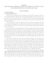 VIỆC GIẢI QUYẾT mối QUAN hệ GIỮA HAI NHIỆM vụ dân tộc và dân CHỦ TRONG GIAI đoạn CÁCH MẠNG 1930 – 1945