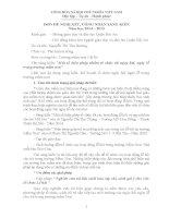 Skkn một số biện pháp nhằm tổ chức tốt ngày hội, ngày lễ trong trường mầm non