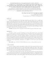 NGHIÊN cứu ẢNH HƯỞNG của THÔNG số CÔNG NGHỆ đến cơ TÍNH lớp PHỦ bột hợp KIM 67ni18cr5si4b TRÊN nền TRỤC THÉP c45 BẰNG CÔNG NGHỆ PHUN PHỦ NHIỆT KHÍ tốc độ CAO HVOF