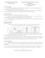 TRƯỜNG THPT CHUYÊN NGUYỄN HUỆ ĐỀ KIỂM TRA KIẾN THỨC LẦN II  Môn: Địa lí